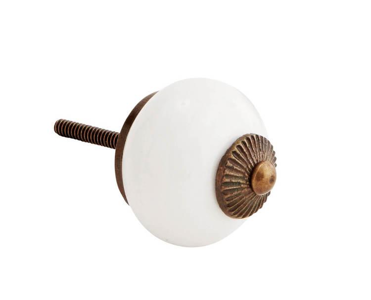 Porslinsknopp vit