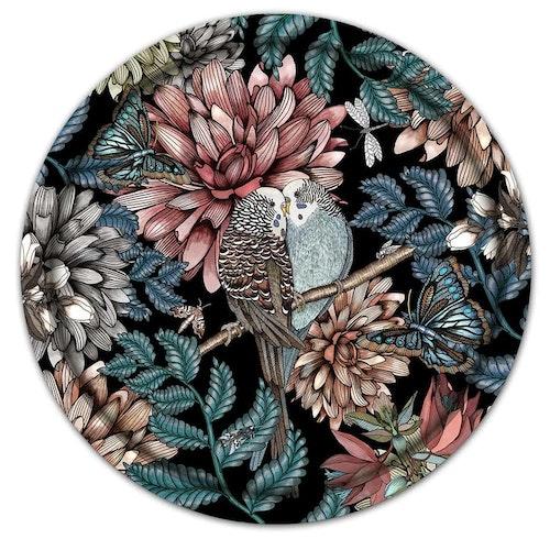 Bricka - Lovebirds, svart