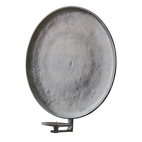 Väggljusstake rund brunsvart - stor