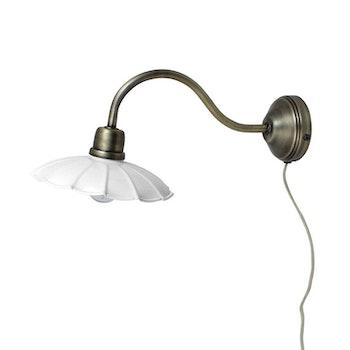 Vägglampa Gustav Vit