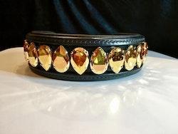 Liz Big Dog Collar, Metallic Sunshine