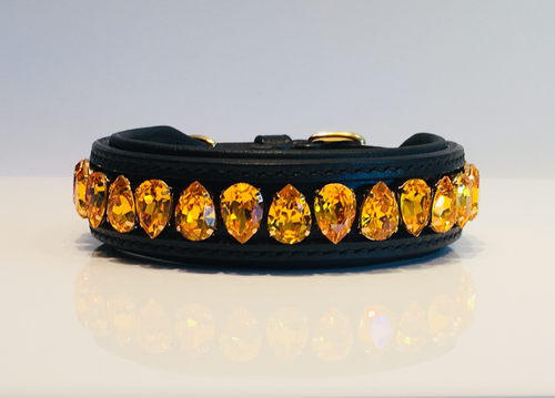 Liz Dog Collar, Sunflower