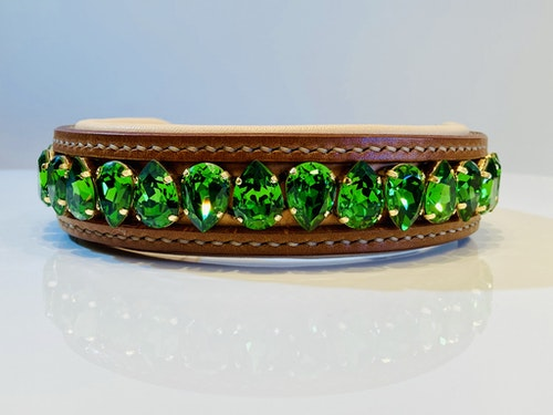 Liz Dog Collar Fern Green