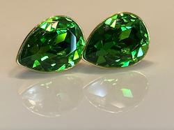 Liz Tears Fern Green Earrings