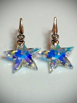 Crystal star earrings