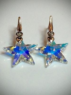 Crystal star earring