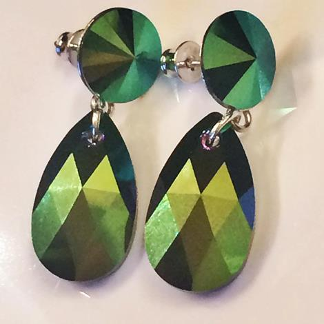 Scarabgreen earrings