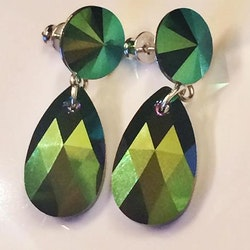 Scarabgreen earrings