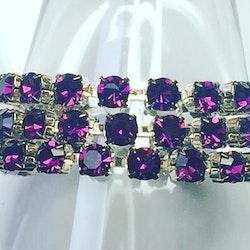 Simple wrap bracelet Amethyst