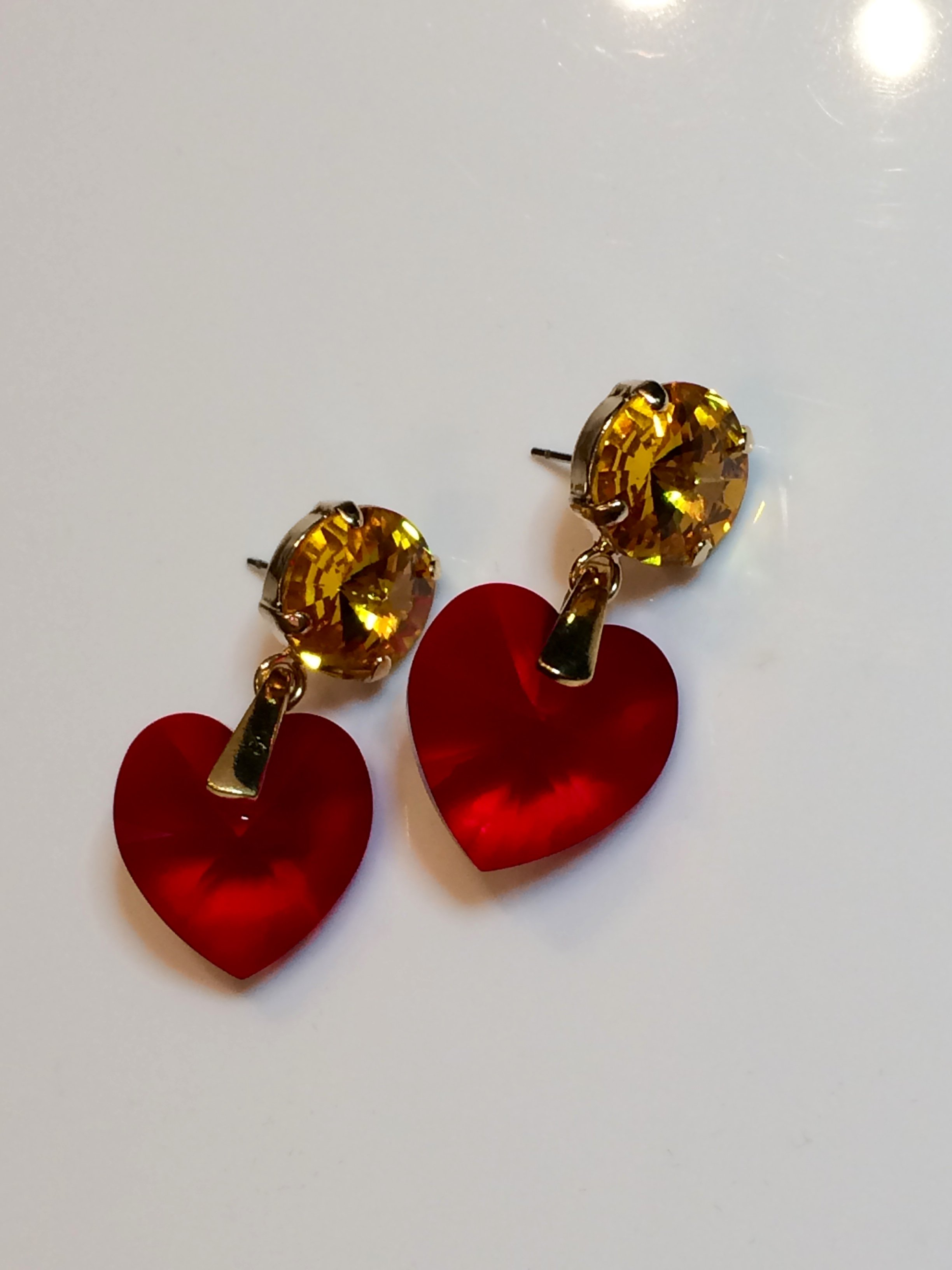 Sweet heart earrings #1