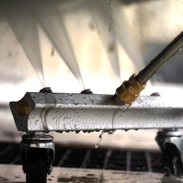 Underredstvätt med hjul + 2 förlängningsrör