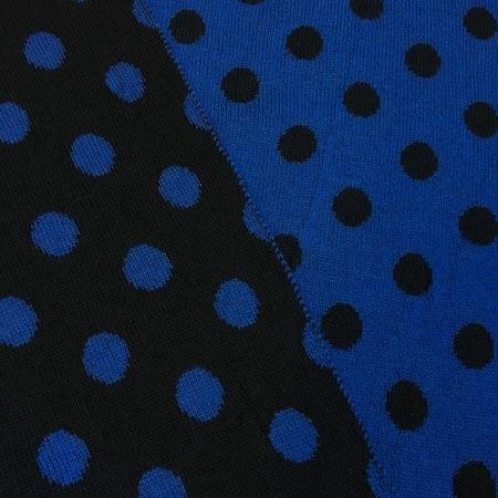 Svart - kornblå, halvbredd
