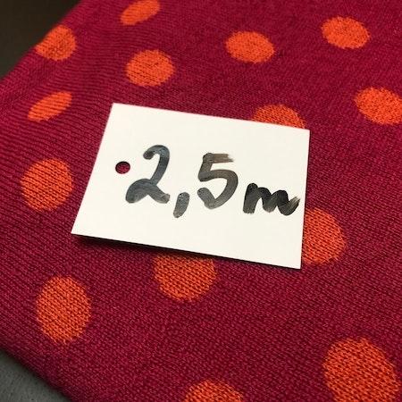 Ullstuv - 70 cm bredd, hallon / orange