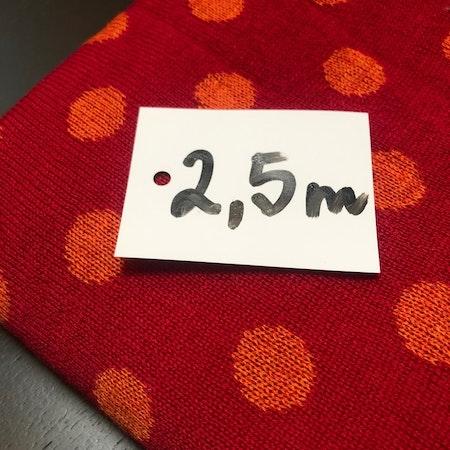 Ullstuv - 70 cm bredd, röd / orange