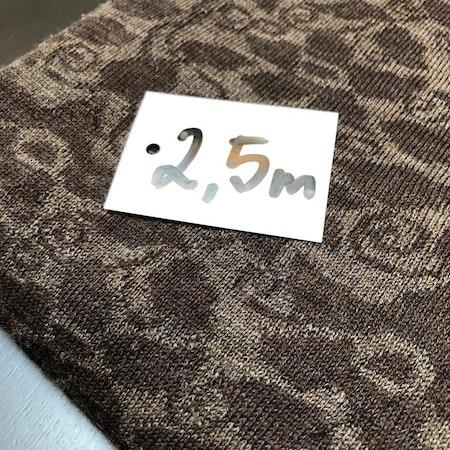 Ullstuv - 140 cm bredd mörkbrun/mullvad