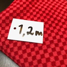 Ullstuv - 140 cm bredd, röd / korall