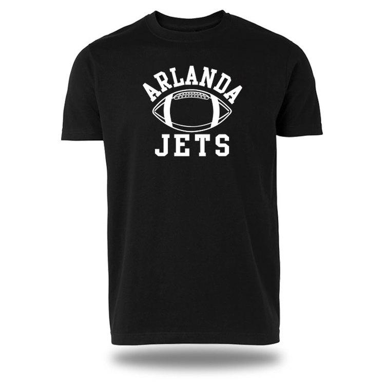Arlanda T-shirt, svart- boll logo