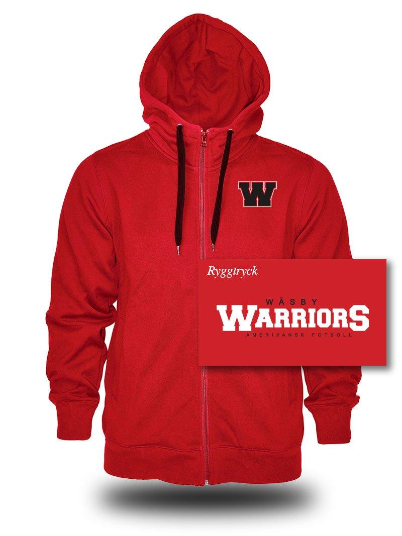 Zip hoodie, röd