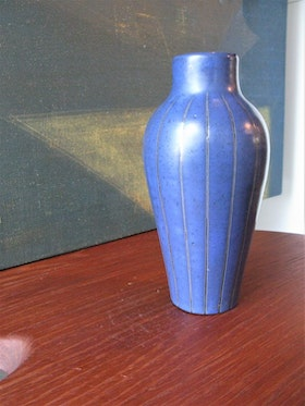 Unique VL blue/silver vase