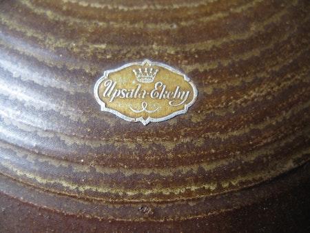 Brown/yellow Globe vase 3154