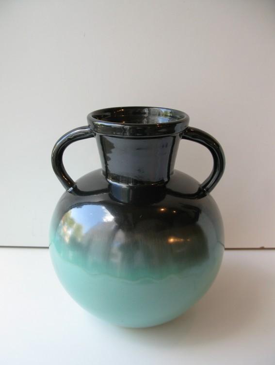 Green/black vase 2784-3