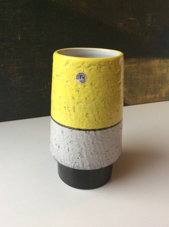 Black/yellow vase 43130/441