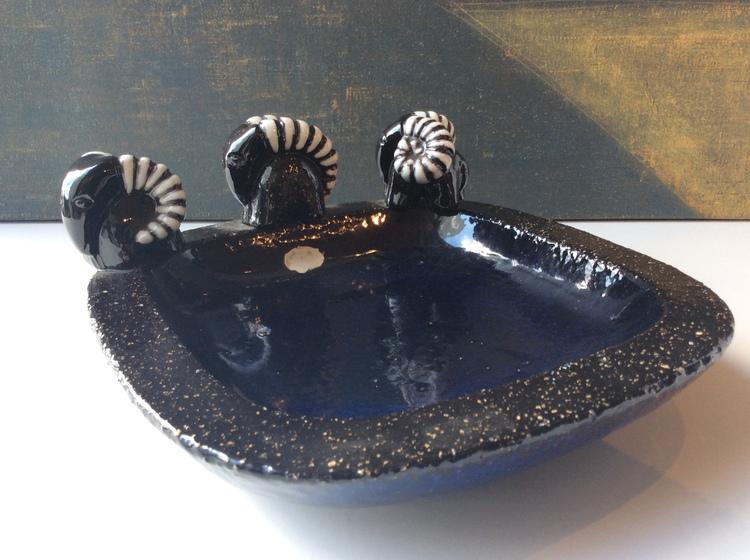 Bowl with bucks 216 dark blue