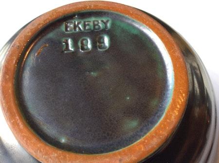 Dark green/orange vase 189