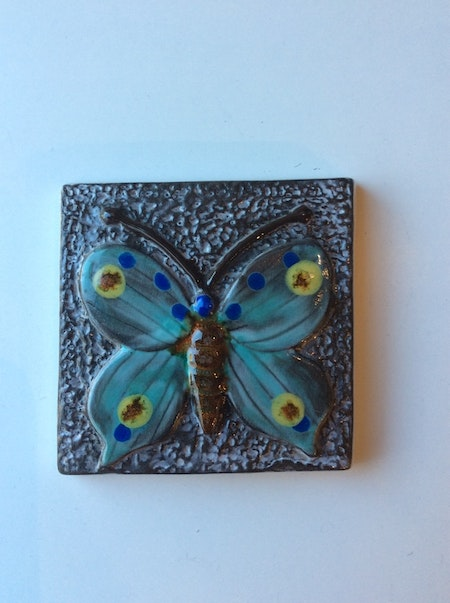 Sagoland butterfly wall plate 6056