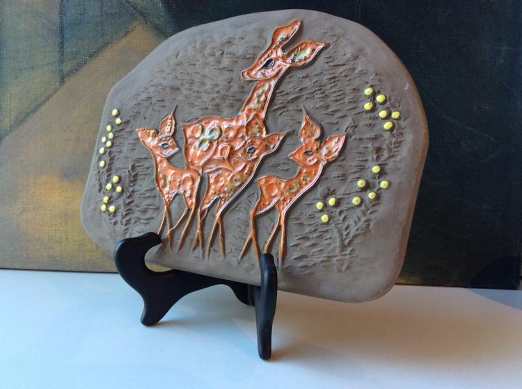 Deer wall plate 0147E