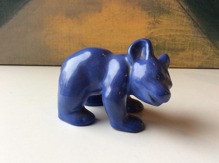 Bear figure 2 blue