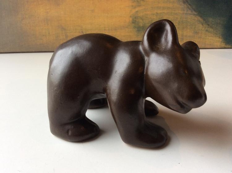 Bear figure 2 dark brown/black