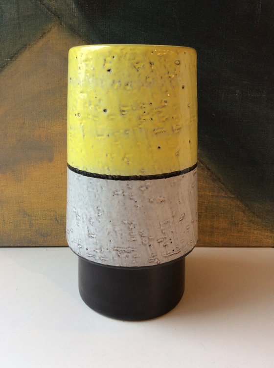Yellow/white/black vase 43130/442
