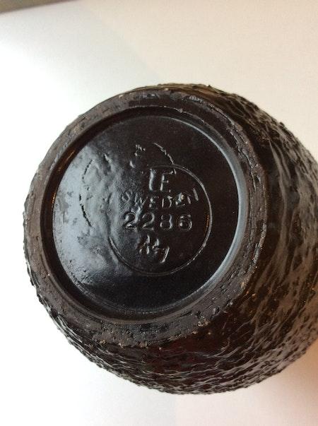 Black Plan vase 2286