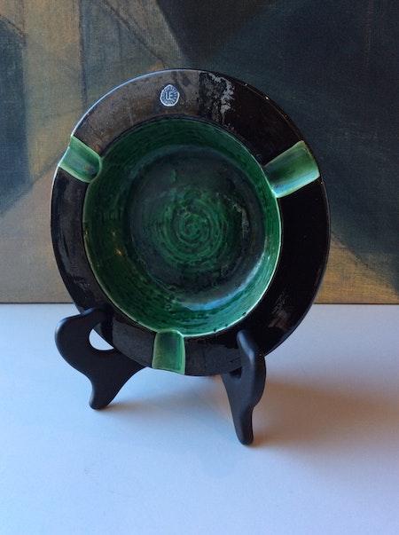Green ashtray 4528