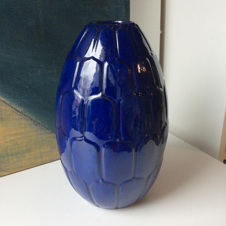 Large blue Adria vase 648