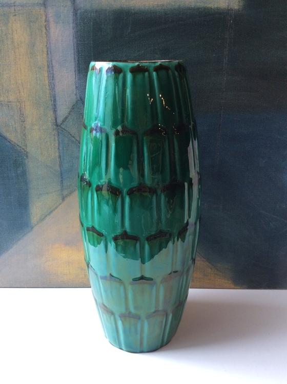Dark green Capri floor vase 36