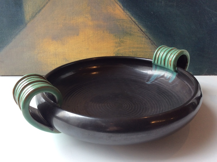 Black/green bowl 52