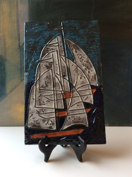 Sailboat wall plate 1047E