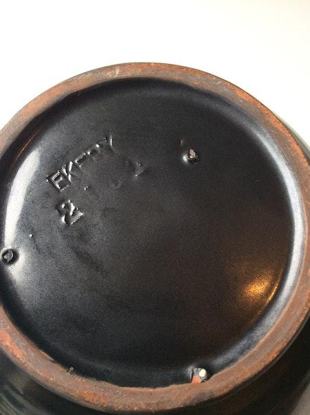 Black/orange vase 2081