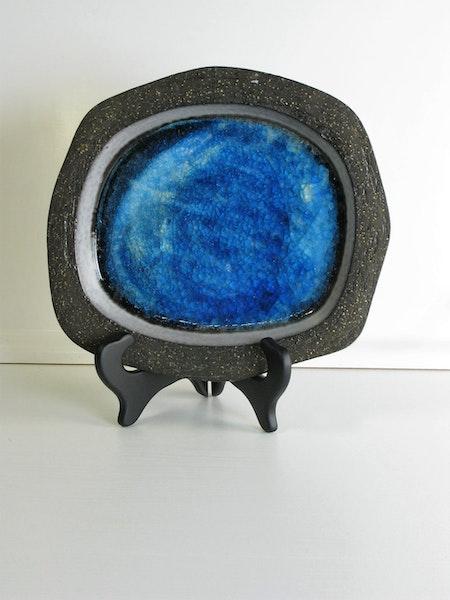 Grey & Blue dish 1067y