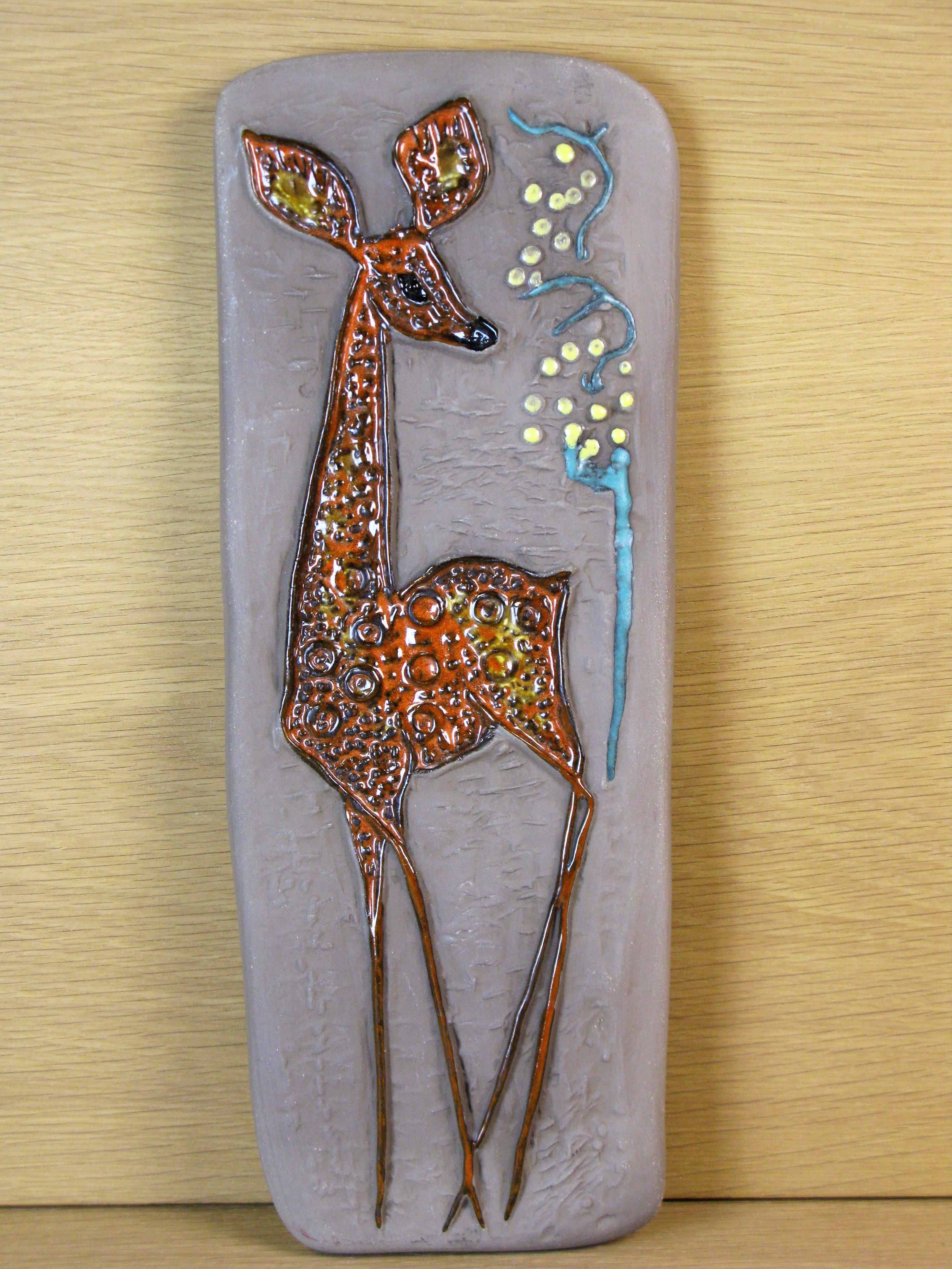 deer wall plate 0146e