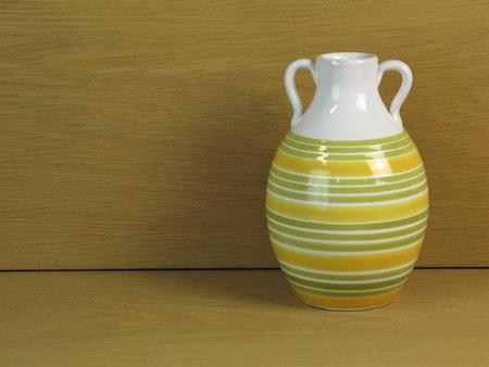 lime striped vase 643