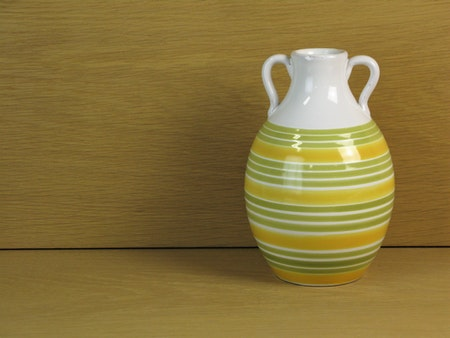 lime striped vase 643