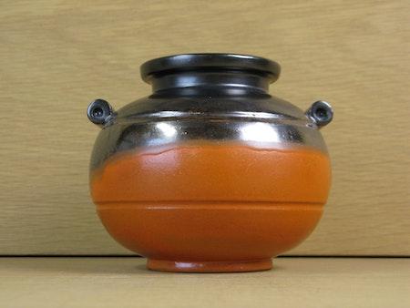 orange/black vase 2750