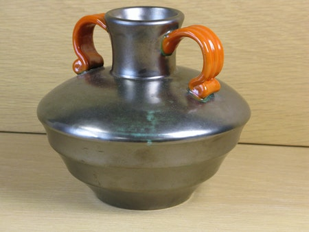 black vase with orange handles 2761-2