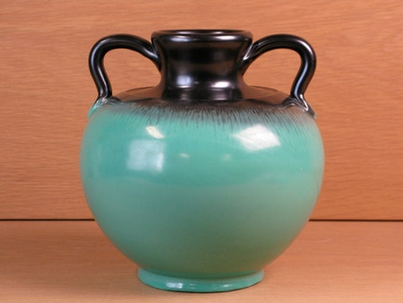 green and black vase 88