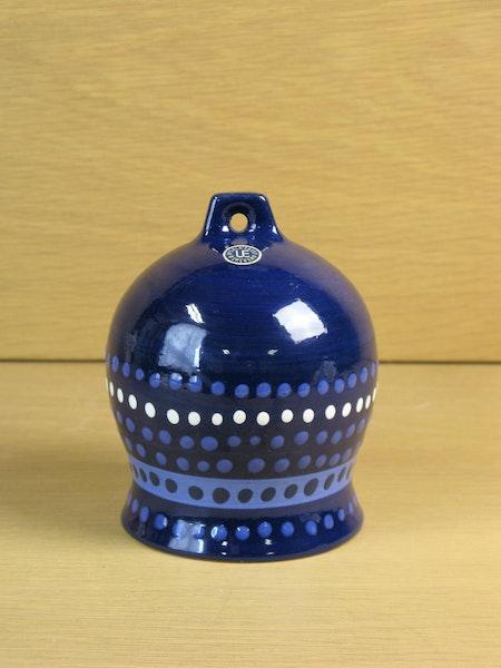 blue ceramic bell