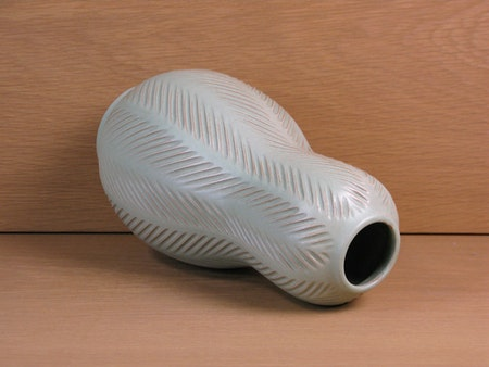 green fishbone vase 438