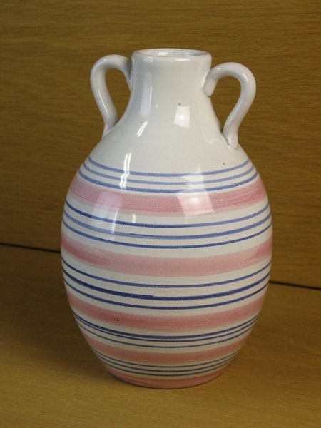 tricolor striped vase 643